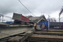 Rail bridge that makes part of Russia's Trans-Siberian Railway collapses due to rains