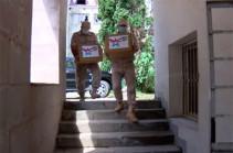 Российские миротворцы впервые оказали гуманитарную помощь людям с ограниченными возможностями в Нагорном Карабахе