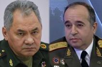 Шойгу обсудил с новым главой Минобороны Армении вопросы региональной безопасности