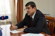 Сергей Григорян освобожден от должности представителя президента Арцаха по особым поручениям