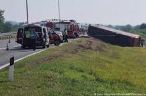 На востоке Германии разбился автобус с туристами