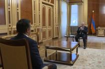 Նախագահ Արմեն Սարգսյանն ու ՄԻՊ Արման Թաթոյանը քննարկել են հայ-ադրբեջանական սահմանին տիրող իրավիճակը