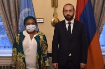 ՀՀ ԱԳ նախարարը հանդիպել է Ցեղասպանության կանխարգելման հարցերով ՄԱԿ գլխավոր քարտուղարի հատուկ խորհրդական Ալիս Վաիրիմու Նդերիտուի հետ