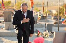 Никол Пашинян почтил память погибших в ходе 44-дневной войны героев