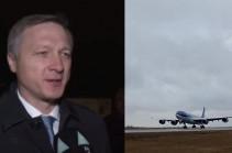В аэропорт Физули прибыла первая делегация во главе с вице-премьером Татарстана