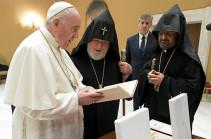 Ամենայն Հայոց Կաթողիկոսը Վատիկանում հանդիպում ունեցավ Ֆրանցիսկոս Պապի հետ