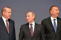 Путин обсудил с Алиевым и Эрдоганом ситуацию в регионе Южного Кавказа