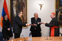 Հայաստանի և Սուրբ Աթոռի միջև ստորագրվել է մշակույթի ոլորտում համագործակցության մասին փոխըմբռնման հուշագիր