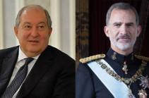Նախագահ Արմեն Սարգսյանը շնորհավորական ուղերձ է հղել Իսպանիայի թագավոր Ֆելիպե Վեցերորդին