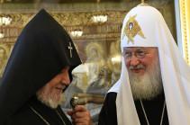 Պատրիարք Կիրիլը հույս ունի, որ Հայաստանի և Ադրբեջանի հոգևոր առաջնորդների հեղինակությունը կօգնի հաղթահարել ԼՂ հակամարտության հետևանքները
