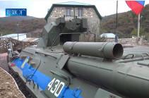 В Нагорном Карабахе с российскими миротворцами проведена комплексная тренировка на всех наблюдательных постах (Видео)