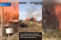 Երասխում Ադրբեջանի կրակի հետևանքով ոչնչացվել է ձմռան ողջ պաշարը, որ գյուղացին իր կենդանիներին կերակրելու համար չարչարանքով հավաքել էր ողջ տարի (Տեսանյութ)