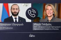 Արարատ Միրզոյանը ԱՄՆ պետքարտուղարի տեղակալի հետ հեռախոսազրույցում ընդգծել է հայ ռազմագերիների և քաղաքացիական պատանդների հայրենադարձման հարցը