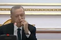 Մեկ այլ երկրի նախագահի հետ ճեպազրույցի ժամանակ Էրդողանին սկզբում  «հետաքրքրել» է իր  քիթը, ապա նա քնել է (Տեսանյութ)