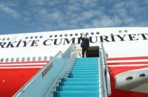 Самолет президента Турции приземлился в аэропорту Физули