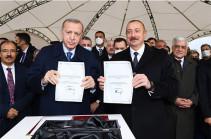 Алиев и Эрдоган заложили фундамент автодороги в рамках так называемого «Зангезурского коридора»