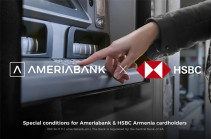 Ameriabank and HSBC Armenia to provide their customers access to each other's ATMs without additional fees