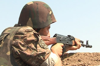 Ceasefire regime violation injures two soldiers