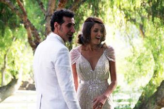 Serj Tnkian's wedding photos in network