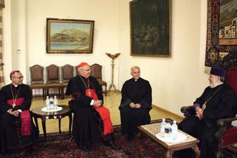 Կաթողիկոսն ընդունեց  Արևելյան Եկեղեցիների Ժողովի նախագահին