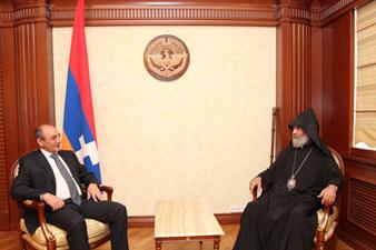 Бако Саакян встретился с предводителем Арцахской епархии ААЦ