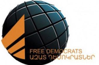 «Ազատ դեմոկրատներ»-ի շնորհավորական ուղերձը ԼՂՀ նախագահին