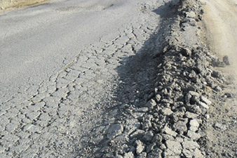 Highway constructed with Lincy Foundation donation gets ruined