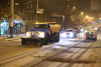 120 units of equipment used for snow removal in Yerevan