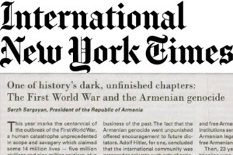 President: Armenian Genocide is a crime of global scale