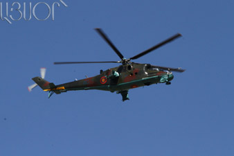 MI-24 helicopter of Karabakh armed forces downed by Azerbaijan