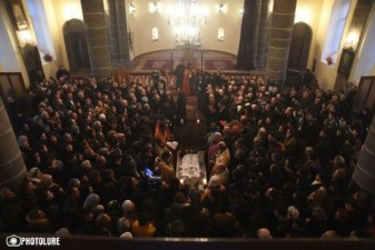 Funeral held for six-month-old Seryozha Avetisyan in Gyumri