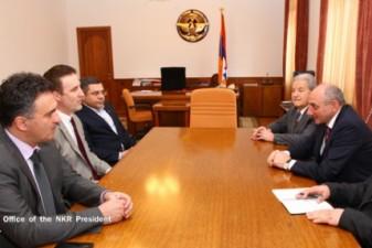 Karabakh President meets with Woodrow Wilson family descendant