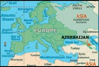 europes map is redrawn as azerbaijan goes east