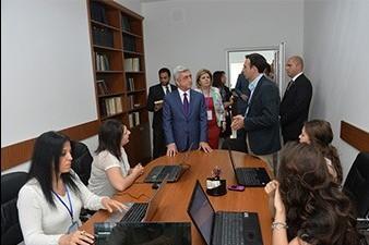Armenian president visits newly opened Wikimedia office in Yerevan