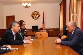 Nagorno-Karabakh president receives Armenian Assembly of America delegation
