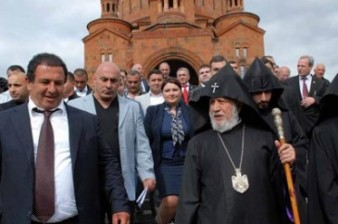 Catholicos of All Armenians Karekin II will consecrate the church of Gagik Tsarukyan