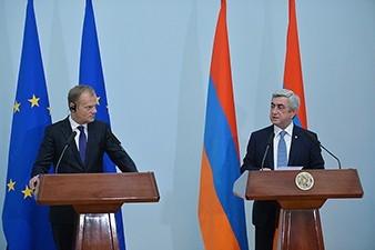 Donald Tusk: EU aims at reaching free visa regime with Armenia