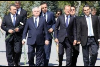 European Council president visits Memorial to Armenian Genocide victims