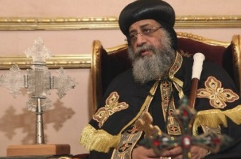 Coptic Pope Tawadros prays for Armenian Genocide victims