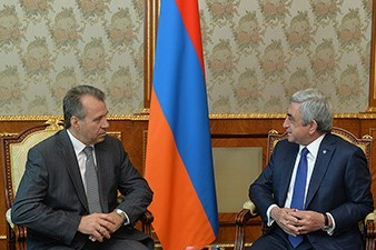 President Sargsyan meets with outgoing ambassador of Belarus