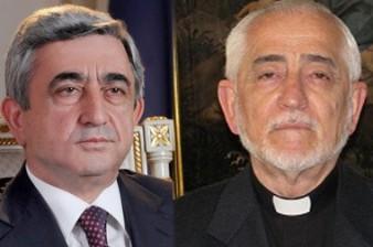 President sends congratulatory message To Armenian Catholic Catholicos Patriarch Of Cilicia