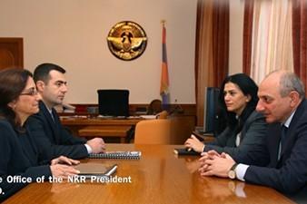 "Президент НКР принял представителей ""Landmine Free Artsakh Campaign"" и ""HALO Trust"""