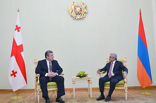 Премьер Грузии присутствует вЕреван