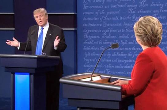 Жители Америки присудили победу Клинтон напервых дебатах сТрампом