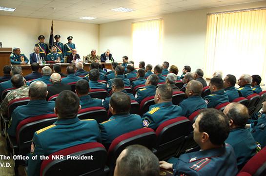 Бако Саакян вручил государственные награды группе сотрудников службы по чрезвычайным ситуациям