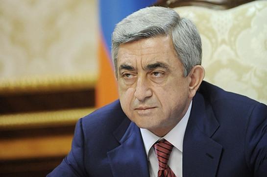 Серж Саргсян: Армянская сторона готова хоть завтра подписать соглашение о механизме расследования нарушений перемирия