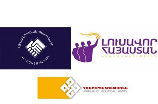 «Լուսավոր Հայաստան»-ը, «ՔՊ»-ն ու «Հանրապետություն»-ն ընտրություններին  կմասնակցեն «ԵԼՔ դաշինք» անվանումով