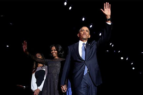 Օբաման իր հրաժեշտի խոսքում շնորհակալություն է հայտնել ամերիկացիներին