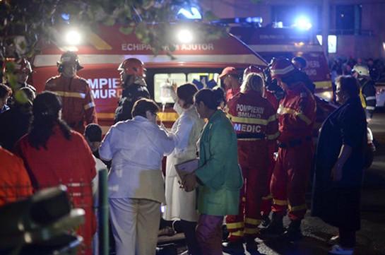 Мощный пожар вэлитном клубе Бухареста мог появиться из-за курения