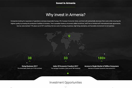 Գործարկվել է ներդրումային հարթակի կայքը, որտեղ առկա է 35-ից ավելի ներդրումային ծրագիր